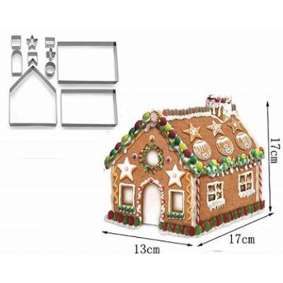 Набор вырубок для создания пряничного домика, большой