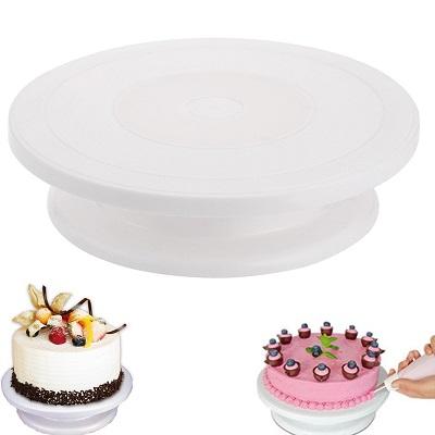 Вращающаяся подставка для торта поворотный столик, h - 7 см.