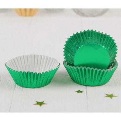 Бумажная капсула зеленая, 24 шт.