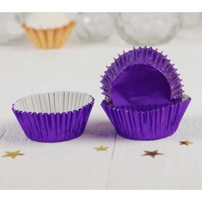 Бумажная капсула фиолетовая, 24 шт.