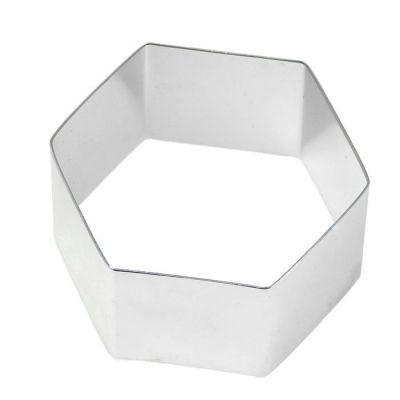 Форма-резак Шестигранник 15 см., h=5 см.