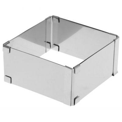Раздвижная форма для выпечки Квадрат- трансформер, 16-28*5 см.