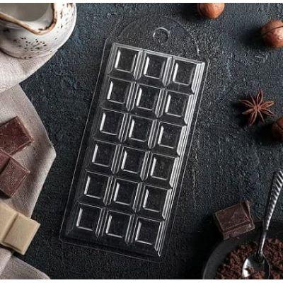 """Форма для шоколада  """"Плитка шоколада"""", 7*15 см."""
