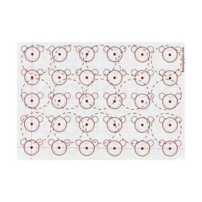 Двусторонний силиконовый коврик с разметкой, 42*29,5 см.