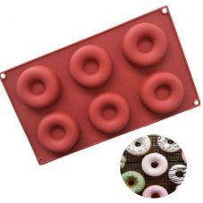 """Форма для выпечки """"Пончики"""", 6 шт"""