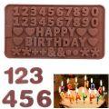"""Форма для шоколада """"Цифры, Happy Birthday"""""""