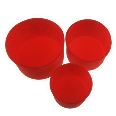 """Набор силиконовых форм для выпечки """"Куличи"""", 3 предмета"""