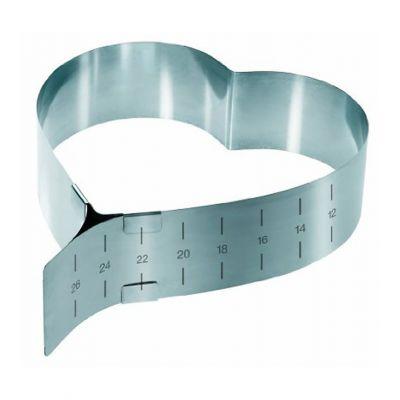 Раздвижная форма для выпечки Сердце - трансформер