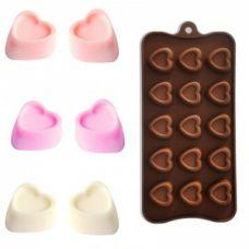"Форма для шоколада ""15 сердец"""