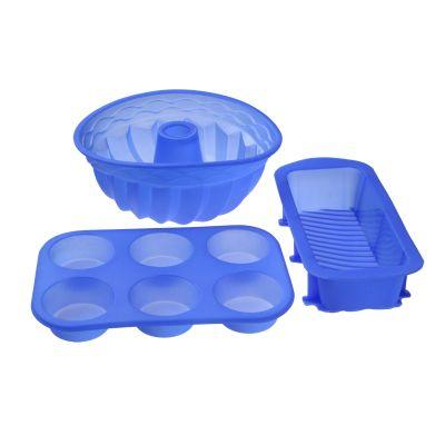"""Набор форм для выпечки """"Кекс, капкейки, круг"""", 3 предмета"""
