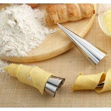Набор форм для выпечки круассанов и трубочек конусообразные, 3 шт.