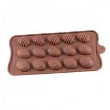 """Форма для шоколада """"Пасхальные яйца (15 штук) """""""
