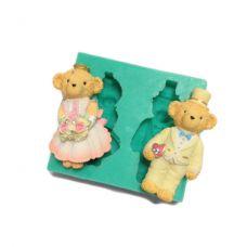 "Молд для мастики и шоколада ""Жених и невеста. Медвежата Тедди"""