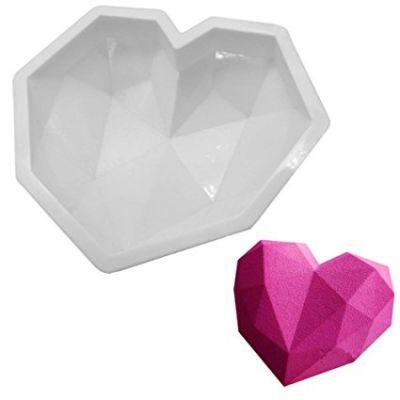 """Форма для муссового торта """"Сердце геометрия"""""""