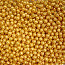 Посыпка Шарики золотые, 3 мм