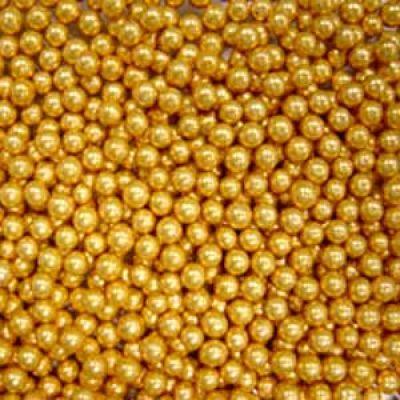 Посыпка Шарики золотые, 3 мм (50 гр.)