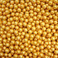 Посыпка Шарики золотые, 6 мм.