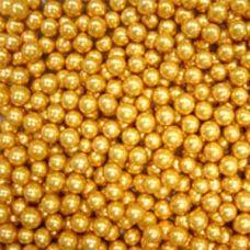 Посыпка Шарики золотые, 5 мм