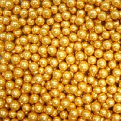 Посыпка Шарики золотые, 6 мм. (50 гр)