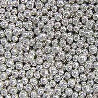 Посыпка Шарики серебряные, 5 мм. (50гр.)