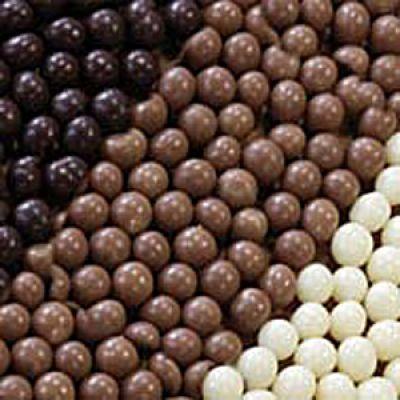 Шоколадные шарики Кранч темные (Италия) (50гр.)