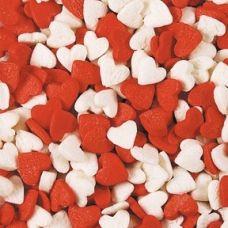 Посыпка Сердечки красно-белые