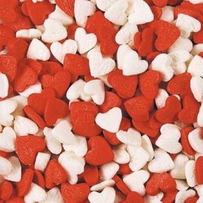 Посыпка Сердечки красно-белые (50гр.)