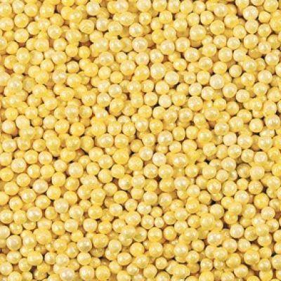Посыпка Шарики желтые перламутровые (50 гр.)