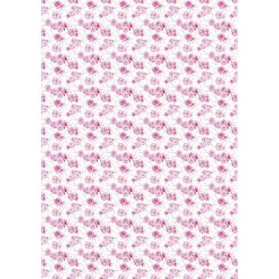 """Бумага для переноса рисунка на безе """"Цветы №2"""" (пионы)"""