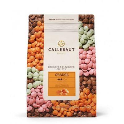 Оранжевый шоколад со вкусом апельсина Callebaut в галетах, 200 гр.