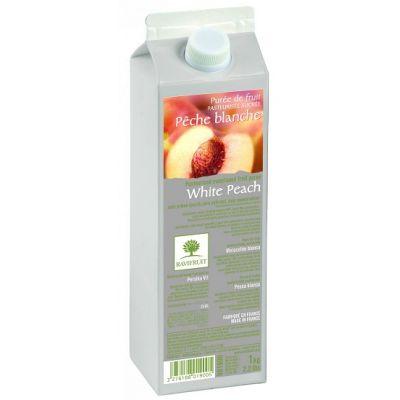 Фруктовое пюре пастеризованное Ravifruit Белый персик, 1 кг.