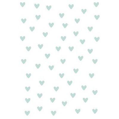 """Бумага для переноса рисунка на безе """"Сердечки"""" (салатовые)"""