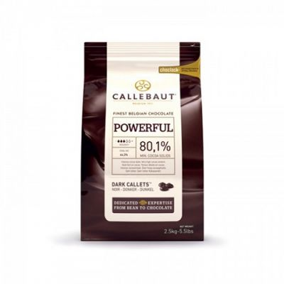 Горький  шоколад 80,1% Callebaut в галетах, 2,5 кг.