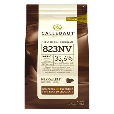 Молочный шоколад 33,6% Callebaut в галетах, 250 гр.