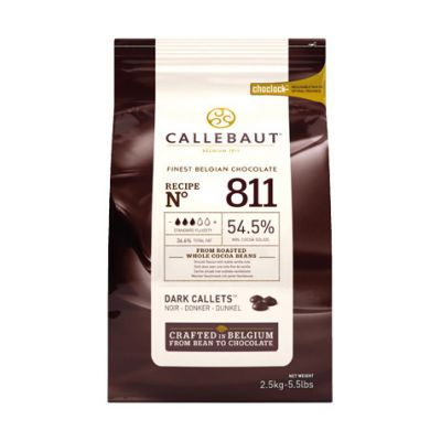 Темный шоколад 54,5% Callebaut в галетах, 250 гр.