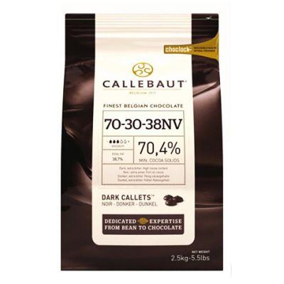 Горький  шоколад 70,4% Callebaut в галетах, 250 гр.