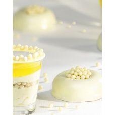 Шоколадные шарики с хрустящим слоем Callebaut белые, 50 гр.