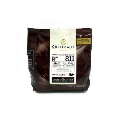 Темный шоколад 54,5% Callebaut в галетах, 400 гр.
