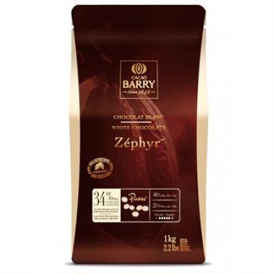 Белый шоколад 34% Zephyr Cacao Barry, 1 кг.