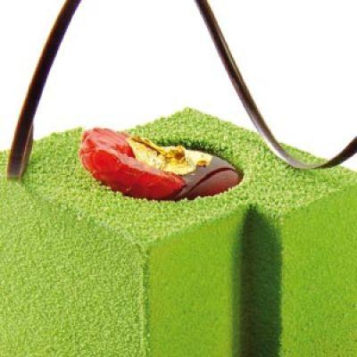 Шоколадный декор-аэрозоль ДОЛЬЧЕ ВЕЛЮТО зелёный, 250 гр.