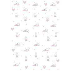 "Бумага для переноса рисунка на безе ""Зайцы"" (розовые)"