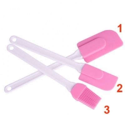 Набор силиконовых лопаток с кисточкой