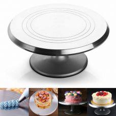Вращающаяся металлическая подставка для торта поворотный столик