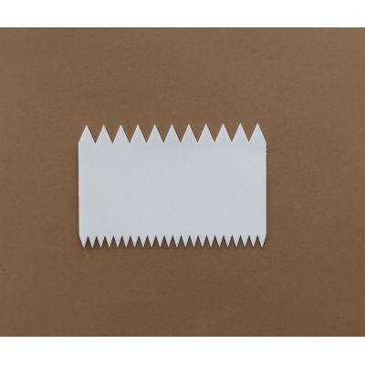 Скребок двусторонний с треугольными зубцами