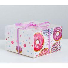 """Коробка для 4 капкейков """"Самого прекрасного"""", 16*16*10 см."""