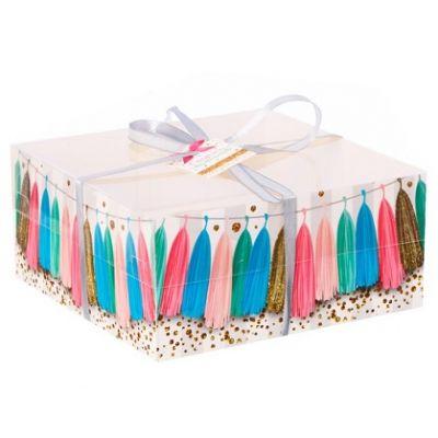 """Коробка для 4 капкейков """"Праздник"""", 16*16*7,5 см."""