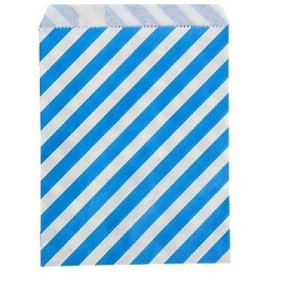"""Пакетик для сладостей """"Полоска"""", синий, 13*18 см., 5 шт."""