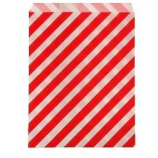 """Пакетик для сладостей """"Полоска"""", красный, 13*18 см., 5 шт."""