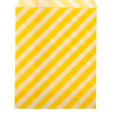 """Пакетик для сладостей """"Полоска"""", желтый, 13*18 см., 5 шт."""