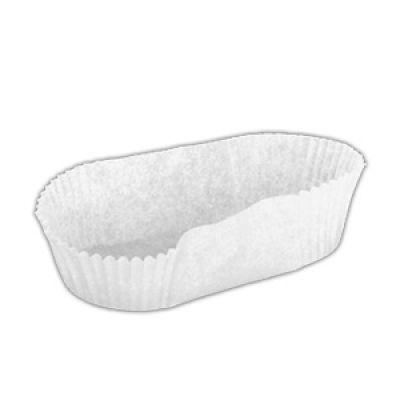 Бумажная капсула белая для эклеров, 20 шт.